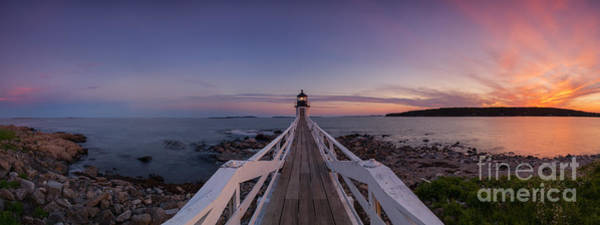 Fire In The Sky Wall Art - Photograph - Marshall Point Lighthouse Pano by Michael Ver Sprill