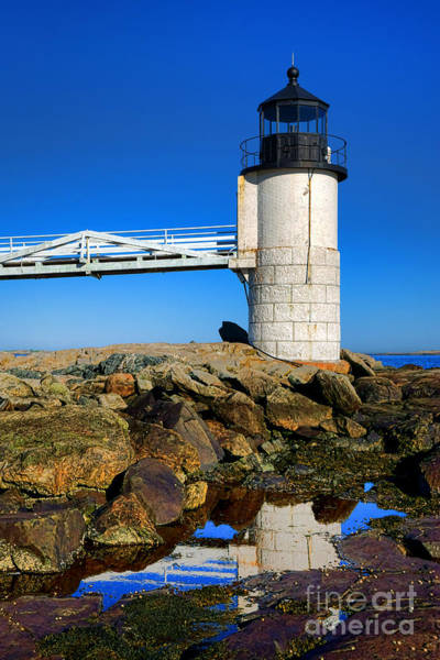 Photograph - Marshall Point Lighthouse Reflection by Olivier Le Queinec