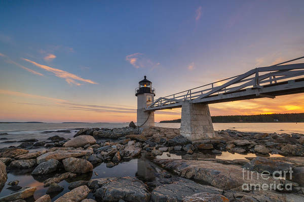 Fire In The Sky Wall Art - Photograph - Marshall Point Lighthouse Reflections by Michael Ver Sprill