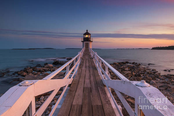 Marshall Point Lighthouse Photograph - Marshall Point Lighthouse Sunset Colors by Michael Ver Sprill