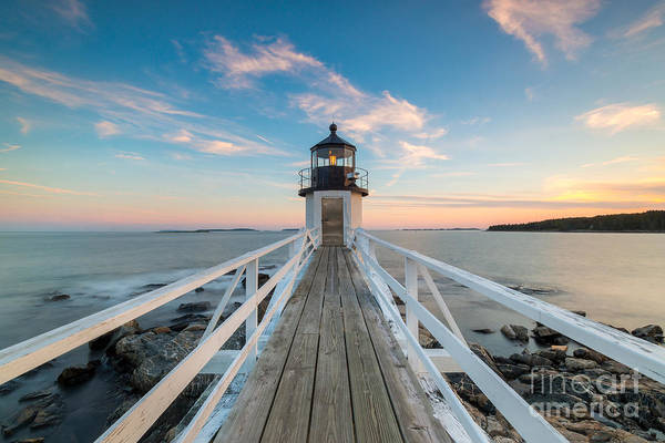 Fire In The Sky Wall Art - Photograph - Marshall Point Lighthouse Sunset by Michael Ver Sprill