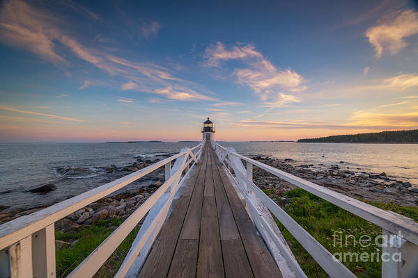Fire In The Sky Wall Art - Photograph - Marshall Point Lighthouse Wide Angle  by Michael Ver Sprill