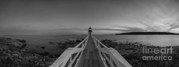 Fire In The Sky Wall Art - Photograph - Marshall Point Sunset Panorama Bw by Michael Ver Sprill