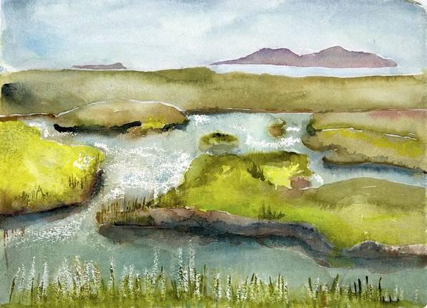Marshes With Grash Art Print