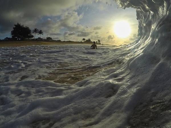Bodyboard Photograph - Marshmallow Melt by Benen  Weir