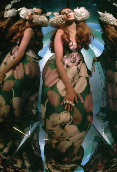 Photograph - Marta Montt In A Kaleidoscope Of Mirrors by Raymundo de Larrain