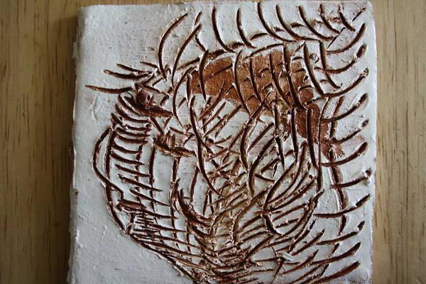 Ceramic Art - Martha - Tile by Gloria Ssali