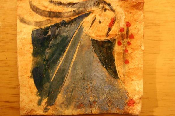 Ceramic Art - Marthas Hope - Tile by Gloria Ssali