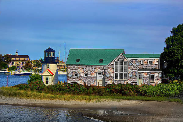 Photograph - Marthas Vineyard Lighthouse by Carlos Diaz