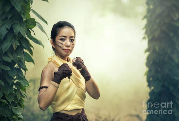 Kickboxing Photograph - Martial Arts Muay Boran by Sasin Tipchai