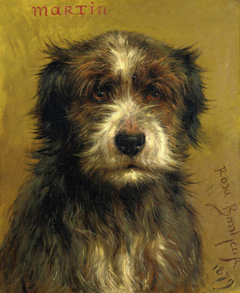 Wall Art - Painting - Martin, A Terrier by Rosa Bonheur
