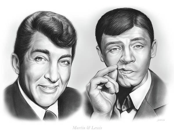 Wall Art - Drawing - Martin And Lewis by Greg Joens