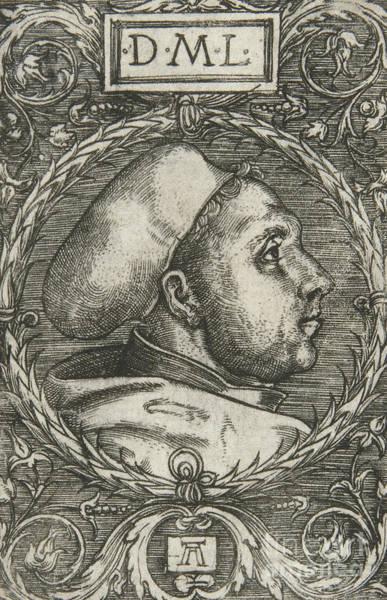 Wall Art - Drawing - Martin Luther, 1521 by Albrecht Altdorfer