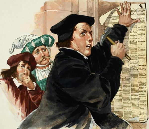 Historical Figure Painting - Martin Luther by Angus McBride