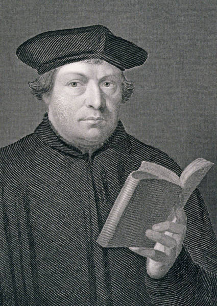 Beretta Wall Art - Drawing - Martin Luther by Hans Holbein
