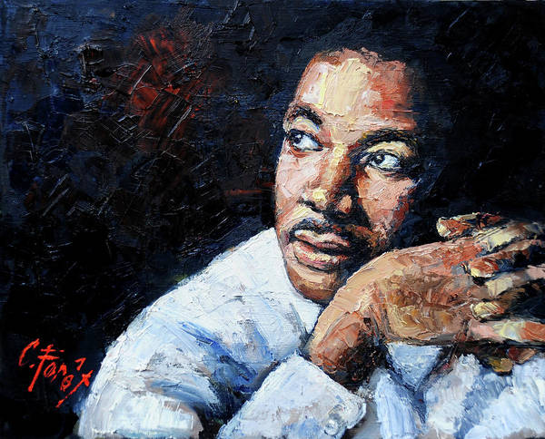 Wall Art - Painting - Martin Luther King Jr by Carole Foret