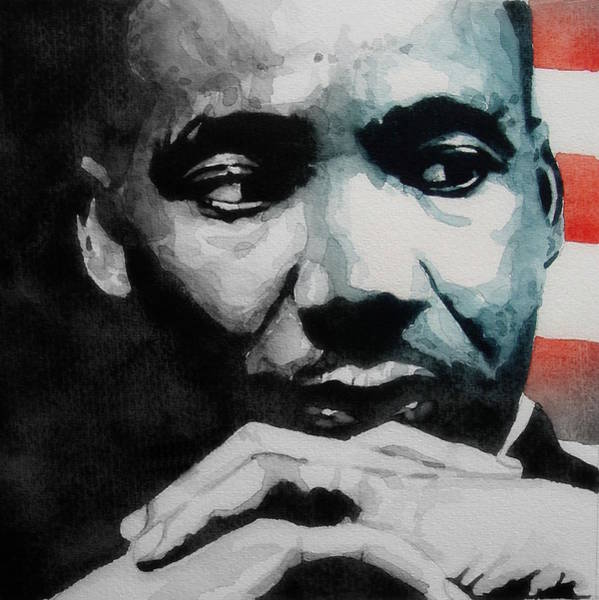 Wall Art - Painting - Martin Luther King Jr- I Have A Dream  by Paul Lovering