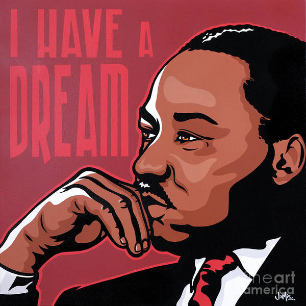 Martin Luther King Wall Art - Painting - Martin Luther King Jr by James Lee