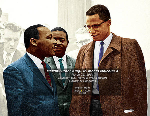 Wall Art - Photograph - Martin Luther King Jr Meets Malcolm X by Melvin Hale