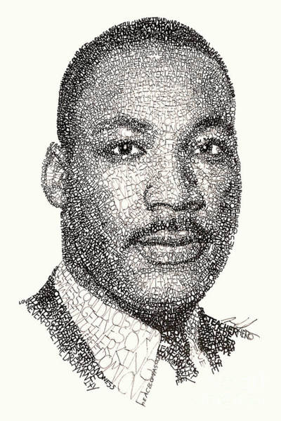 African American Drawing - Martin Luther King Jr by Michael Volpicelli
