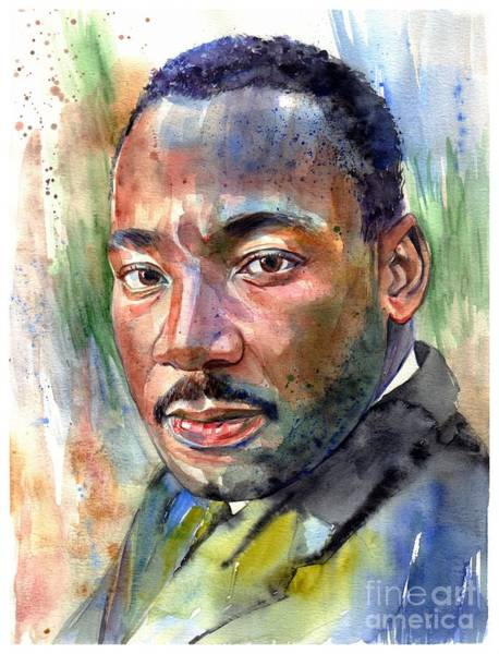 Wind Painting - Martin Luther King Jr. Painting by Suzann's Art
