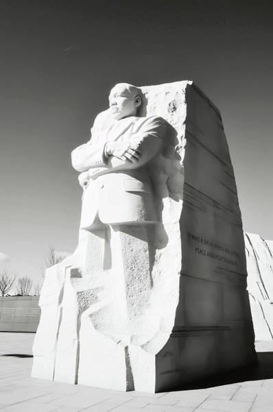 Photograph - Martin Luther King Memorial Statue In Washington Dc by Brandon Bourdages