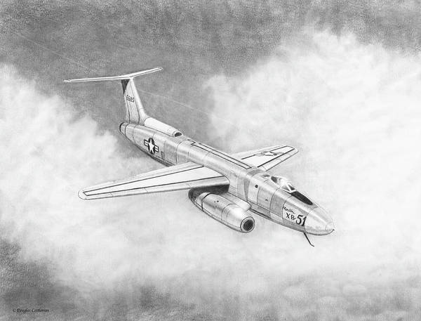 Drawing - Martin Xb-51 by Douglas Castleman