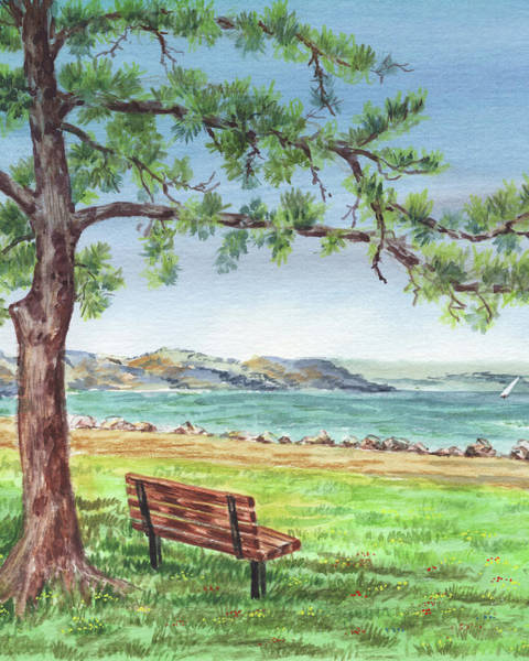 Wall Art - Painting - Martinez Marina California Landscape by Irina Sztukowski