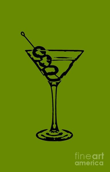 Wall Art - Digital Art - Martini Glass Tee by Edward Fielding