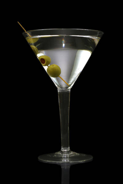 Beverage Photograph - Martini In Formal Dress by Kitty Ellis