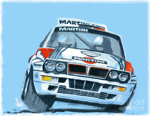 Riffle Digital Art - Martini Lancia by Ron Riffle