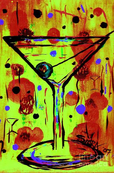 Piano Bar Painting - Martini Madness  by Sidra Myers