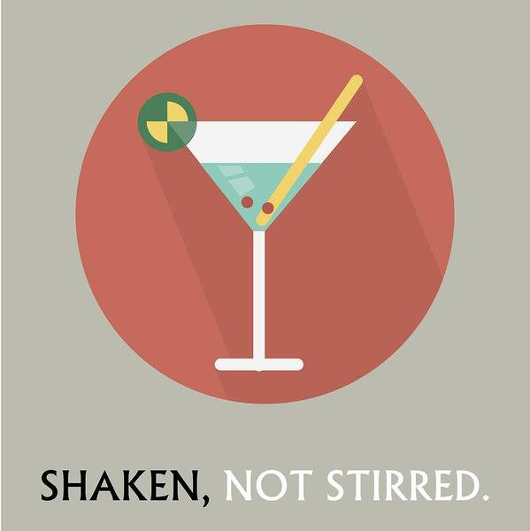 Bier Painting - Martini Poster Print - Shaken, Not Stirred by Beautify My Walls