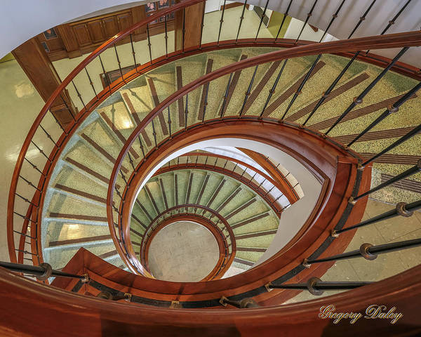 Photograph - Marttin Hall Spiral Stairway by Gregory Daley  MPSA