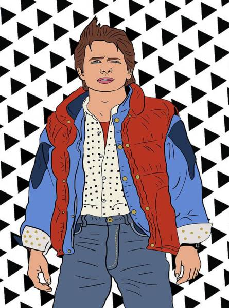Dope Mixed Media - Marty Mcfly by Nicole Wilson