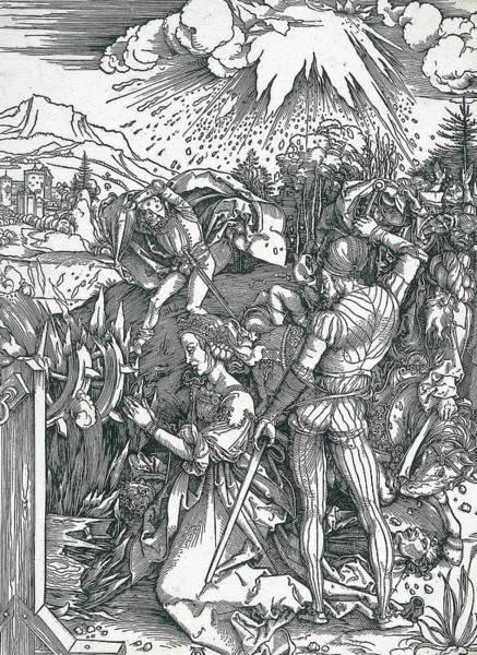 Albrecht Durer Wall Art - Relief - Martyrdom Of Saint Catherine by Albrecht Durer