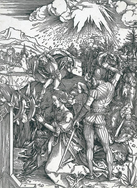 Relief - Martyrdom Of Saint Catherine by Albrecht Durer