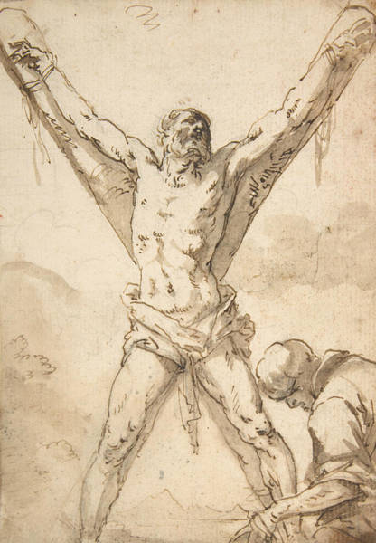 Martyrdom Of St. Andrew Art Print