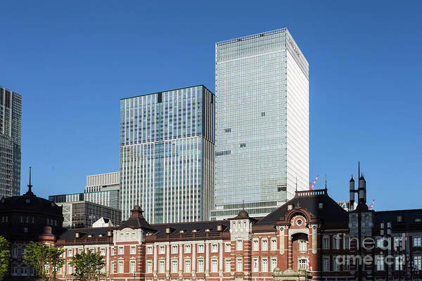 Photograph - Marunouchi And Tokyo Train Station by Didier Marti