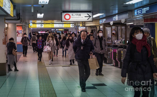 Photograph - Marunouchi Line, Tokyo Metro Japan by Perry Rodriguez