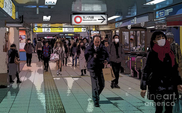 Art Print featuring the photograph Marunouchi Line, Tokyo Metro Japan Poster by Perry Rodriguez