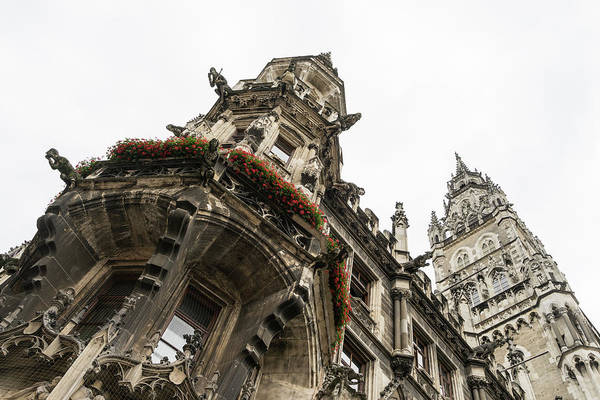 Photograph - Marvelous Munich - Ornate Neo-gothic Architecture Of Neues Rathaus Or New Town Hall by Georgia Mizuleva