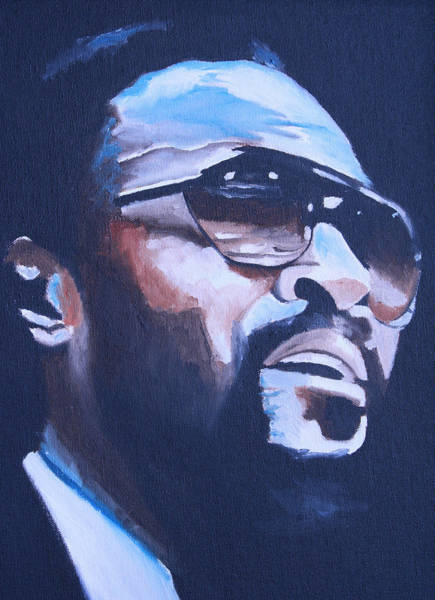 Wall Art - Painting - Marvin Gaye Portrait by Mikayla Ziegler