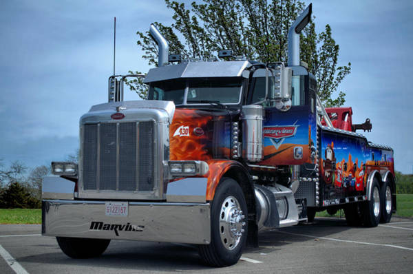 Photograph - Marvins Big Rig Cars Tribute Tow Truck by Tim McCullough