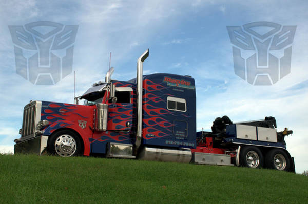Photograph - Transformers Optimus Prime Tow Truck by Tim McCullough