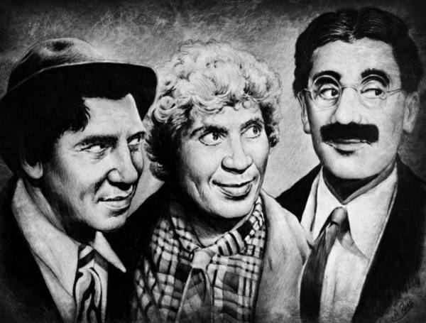 Wall Art - Drawing - Marx Bros by Andrew Read
