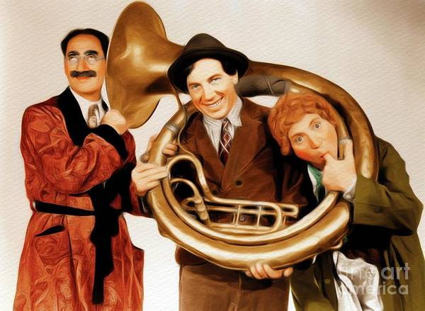 Restored Wall Art - Painting - Marx Brothers by John Springfield