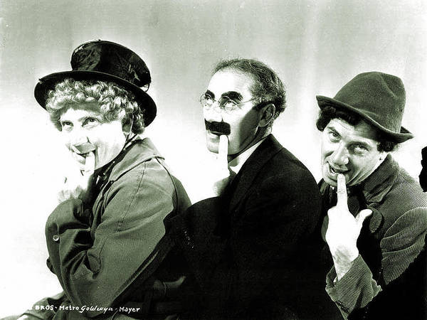 Wall Art - Digital Art - Marx Brothers by Mery Moon