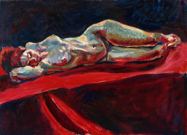 Wall Art - Painting - Mary - Nude - Again by Piotr Antonow