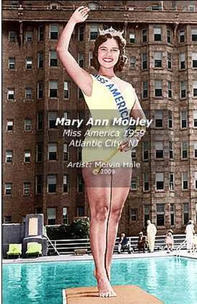 Wall Art - Painting - Mary Ann Mobley C1959 Miss America by Melvin Hale